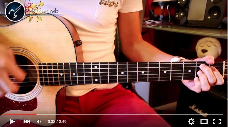 """Cómo Tocar El Villancico """"Campana Sobre Campana"""" en Guitarra Acústica"""