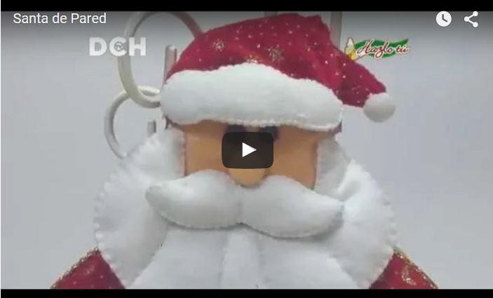 Manualidades De Navidad | Santa de Pared
