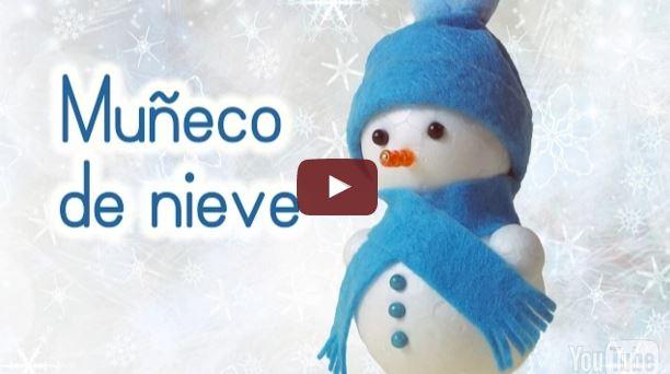 Manualidades para Navidad: MUÑECO de NIEVE Adornos navideños