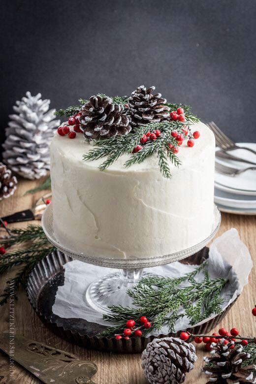 Fotos de pasteles o tortas navideñas