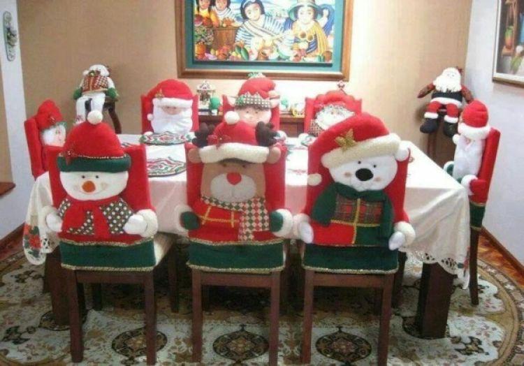 imagenes con ideas de decoración navideña para la mesa del comedor