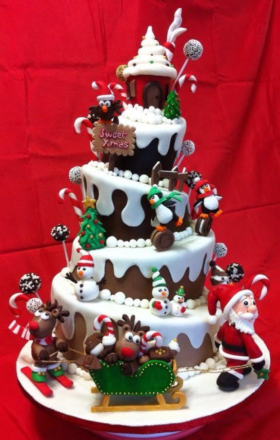 Imagenes con ideas para pasteles de navidad