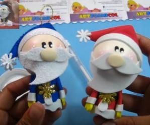 Tutorial Paso a Paso Para Hacer Un Papá Noel En Foamy