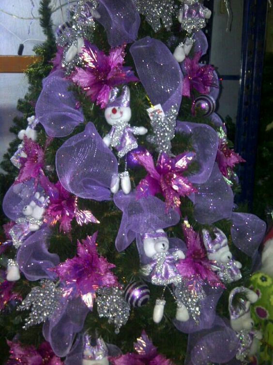 Ideas de decoración navideña en morado