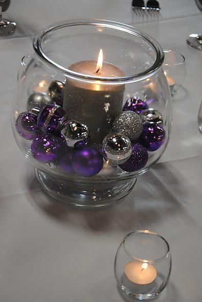 Ideas de detalles con morado para decorar en navidad