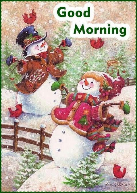 Good morning imagen navideña buenos días