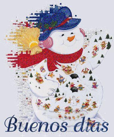 Imagenes de navidad muñeco de nieve buenos días