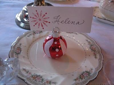 Ideas de marcadores de navidad para la mesa de la cena - Como poner la mesa en navidad ...