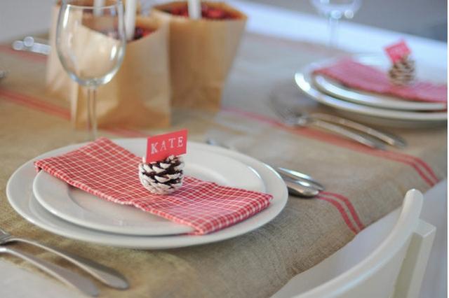 Imagenes de decoraciones para la mesa-marcadores navideños