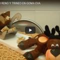 Manualidad Navideña Reno y Trineo en Goma Eva Facil De Hacer