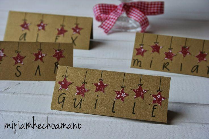ideas para marcadores de navidad en la mesa de la cena