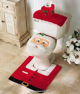 Decoracion santa para el baño en navidad