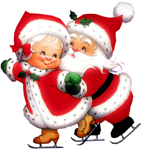 Santa Claus y Señora Claus imagenes png