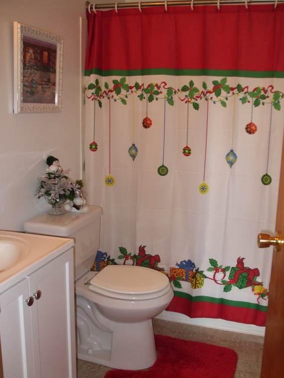 decoracion del baño ideas navideñas