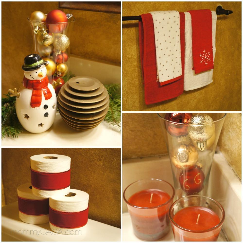 detalles decorativos para el baño en navidad