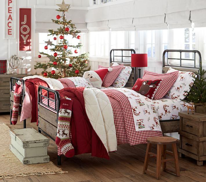 dormitorio temático navideño