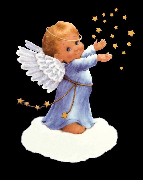 Imagen de un angelito para navidad png