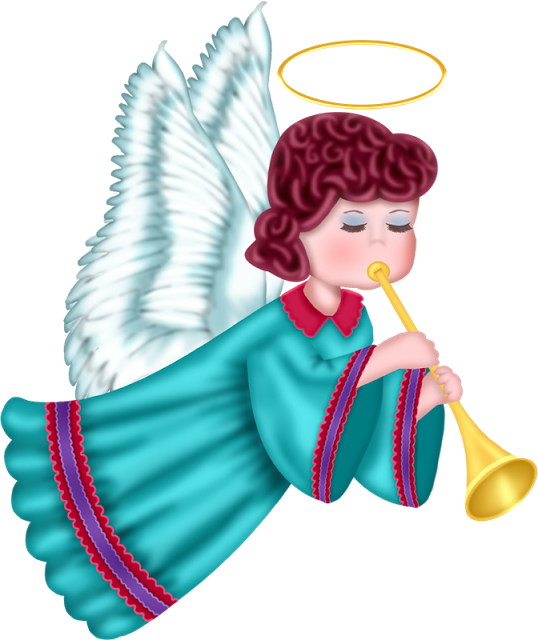 Imagen png de angel navideño para descargar