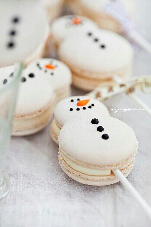 Imagenes con ideas de galletas en forma de muñeco de nieve