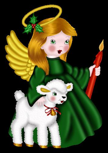 Imagenes png de angeles navideños