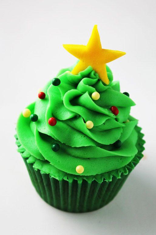 ideas de ponquesitos cupcakes navideños