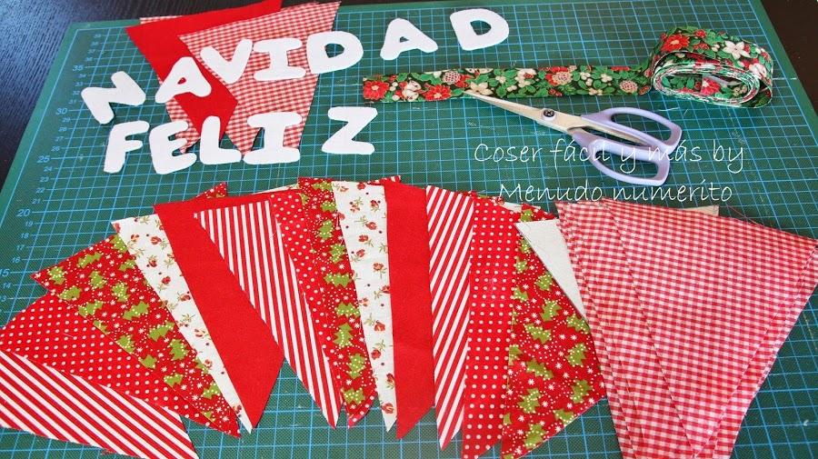 Adornos de navidad_ guirnalda de banderines navidena _ Manualidades