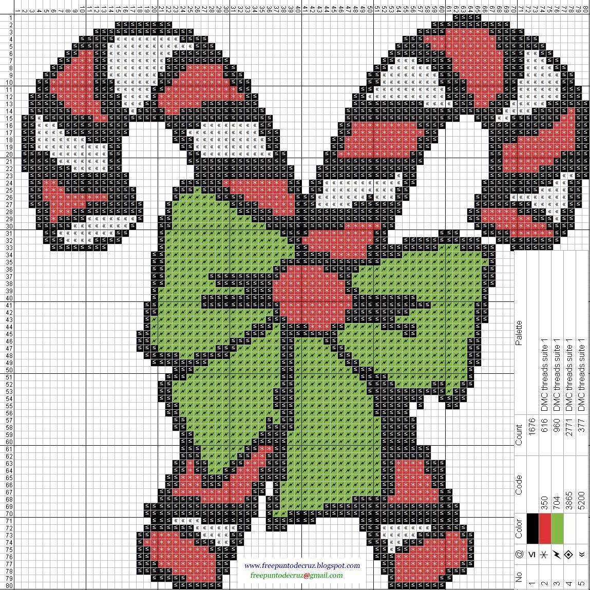 Patrones navideños Bastones - Punto de cruz