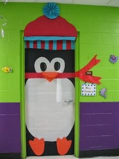 Pinguino navideño para decorar puertas en navidad