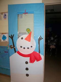 Decora tus puertas con un lindo Muñeco de nieve