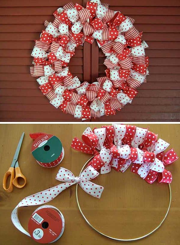 Como hacer una corona navideña en casa facil