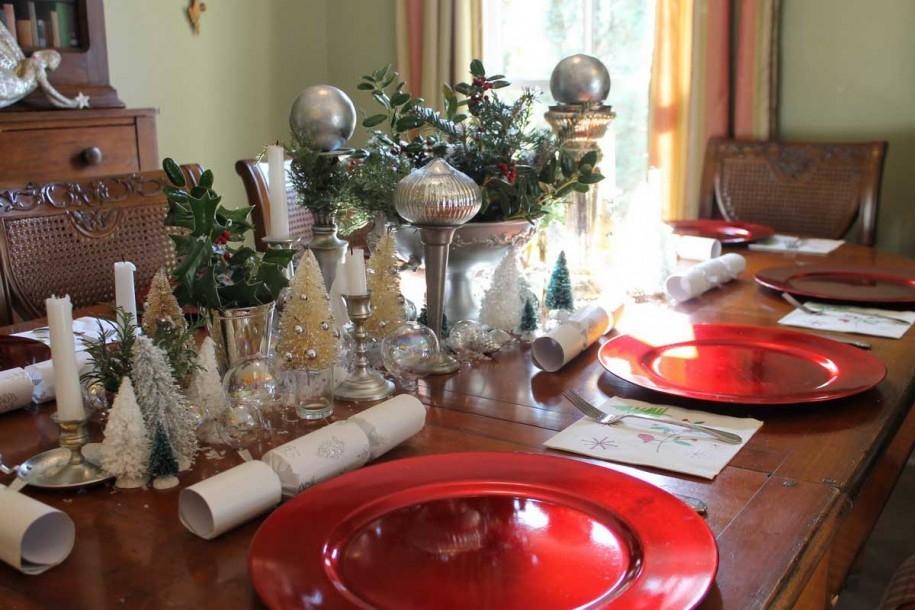 Decoracion centros de mesa navideño