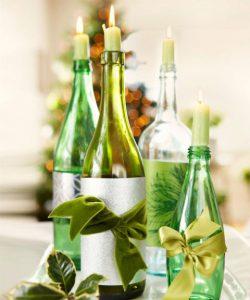idea-decorativa-para-navidad-reutilizando-botellas-de-vino