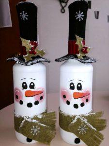 Imagenes con Decoracion de botellas navideñas