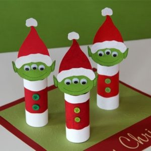 Imagenes de ideas navideñas con tubos de papel higiénico
