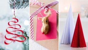 decoraciones navideñas sencillas de realizar