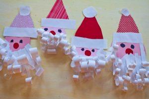 manualidades para hacer con los niños en navidad papa noel