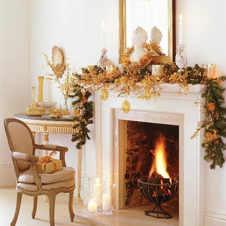como-decorar-la-repisa-de-la-chimenea-en-navidad