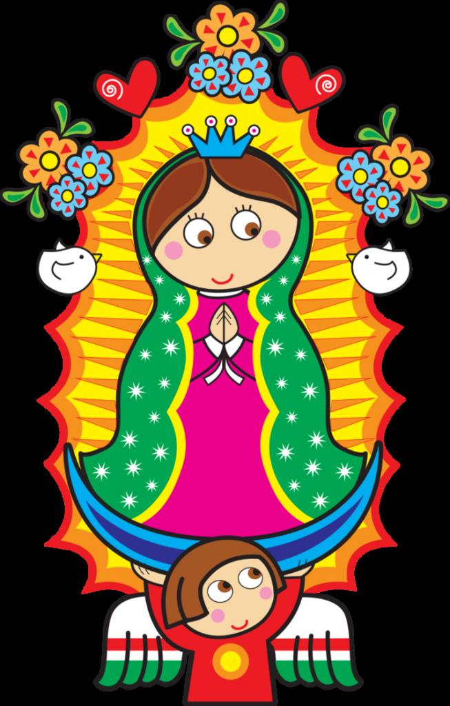 Dibujo animado de la virgen de Guadalupe para descargar