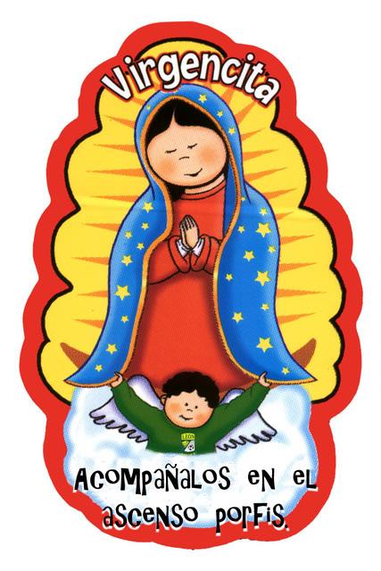 Dibujos animados bonitos de la virgen de Guadalupe