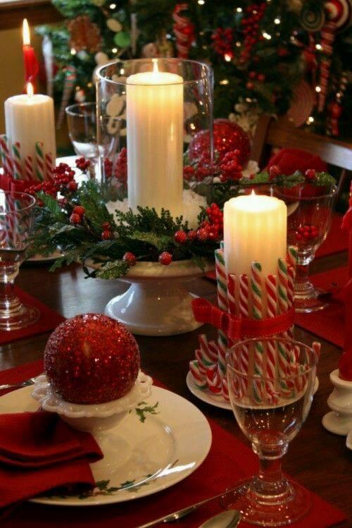 Imagenes decoraciones navideñas mesa