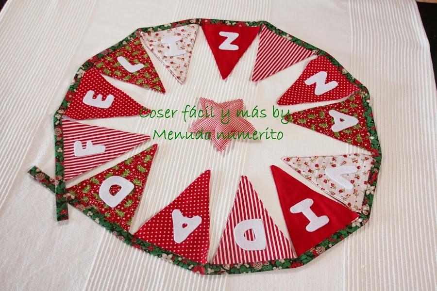 Adornos De Navidad: Guirnalda De Banderines Navideña