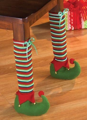 Decorar Las Patas De La Mesa Para Navidad