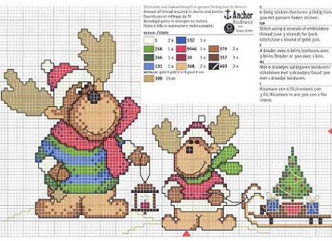 patrones-punto-de-cruz-navidad-renos-gratis