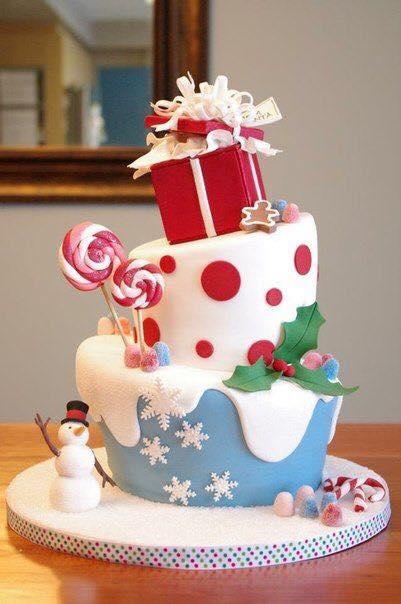 Bonitas ideas para hacer pasteles para navidad