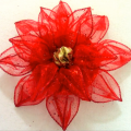 Cómo Hacer Flores De Navidad En Cintas Alambradas