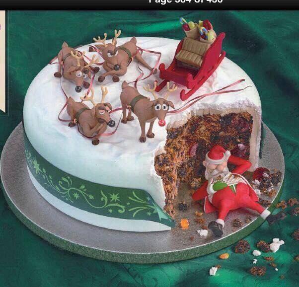 Imagenes con ideas creativas para ponque navideños