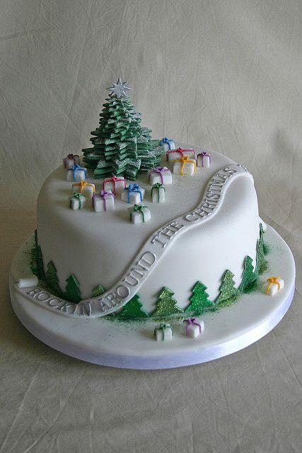 Imagenes de lindas tortas navideñas