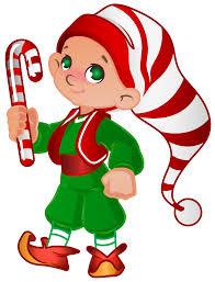 Imagen bonita de un duende navideño para descargar