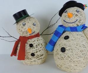 Manualidad Navideña Muñeco De Nieve Con Material Reciclado