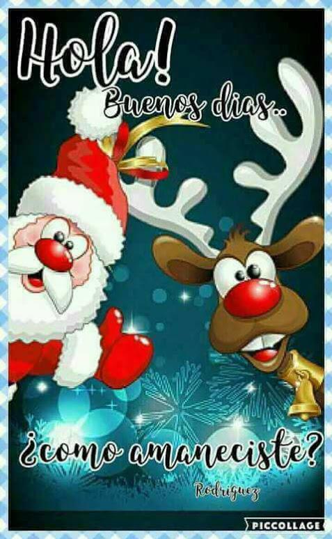 Hola buenos días imagen navideña